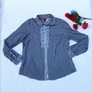 Tommy Hilfiger Button Down Ruffled Front Shirt